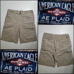 American Eagle Outfitters Men Plaid Short Size 38